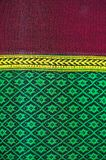 Handwoven Gewebe der Gewebefarbeantike, natürliche Färbungsgewebe, schöne Farben, schöne Gewebe, alte Modegewebeseide thailändisc Lizenzfreie Stockbilder