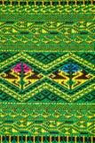 Handwoven Gewebe der Gewebefarbeantike, natürliche Färbungsgewebe, schöne Farben, schöne Gewebe, alte Modegewebeseide thailändisc Stockbild