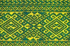 Handwoven Gewebe der Gewebefarbeantike, natürliche Färbungsgewebe, schöne Farben, schöne Gewebe, alte Modegewebeseide thailändisc Lizenzfreie Stockfotografie