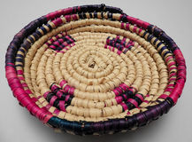 Handwoven Haitian Basket Royalty Free Stock Photography