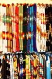 Handwoven Indiańskie koc w śmiałych wzorach i jaskrawych kolorach Zdjęcia Royalty Free