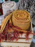 Handwoven Sjaals Stock Fotografie