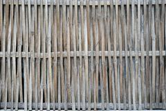 Handwoven split bamboo wall closeup horizontal background Stock Images