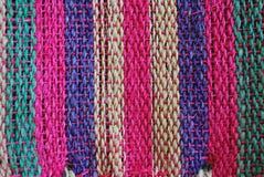 Handwoven striped texture Stock Photo