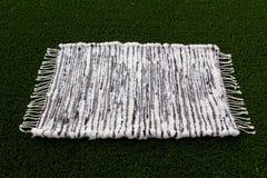 Handwoven wool rug Royalty Free Stock Photo