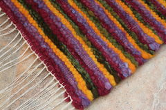 Handwoven wool rug Stock Image