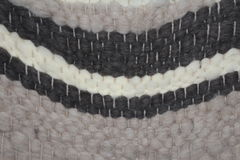 Handwoven wool rug Stock Images
