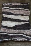 Handwoven wool rug Stock Photography