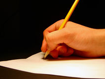 Handwrite. Writeing a letter Stock Image