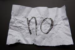 Free Handwriten Text No Written On White Crumpled Paper Royalty Free Stock Photo - 127053185
