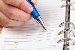 handwriting Arkivfoto