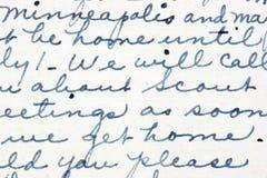 handwriting obrazy stock