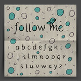 Handwriting Alphabet - Follow me Stock Image