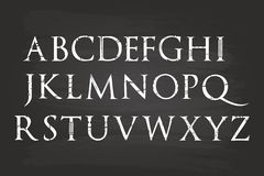 Handwriting Alphabet. Letters On Blackboard Royalty Free Stock Image