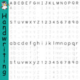 Handwriting alphabet number Royalty Free Stock Image