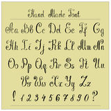 Handwriting Alphabets. Vector Hand Drawn Fonts Royalty Free Stock Images