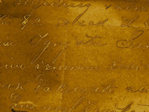 Handwriting background. A golden vintage handwriting background Royalty Free Stock Photos