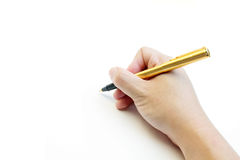 Handwriting blank Stock Photography
