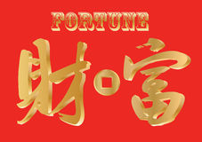 Handwriting Chinese character - Fortune Royalty Free Stock Photo
