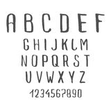 Handwriting Doodle Alphabet Stock Photos