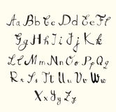 Handwriting font set. For use, vector Stock Images