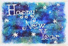 Handwriting happy NY Stock Photography