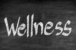 Handwriting healthy concept on blackboard Stock Image