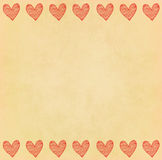 Handwriting heart frame on paper Royalty Free Stock Photography