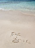 Handwriting inskrypcja 2016 na plaży Obrazy Stock