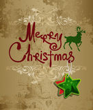 Handwriting. Merry Christmas. Royalty Free Stock Images