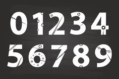 Handwriting Numbers Stock Photo