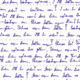 Handwriting on the paper seamless pattern Royalty Free Stock Image
