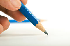 The Handwriting Pencil Stock Photography