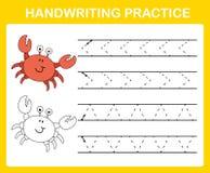 Handwriting practice sheet. Illustration vector vector illustration