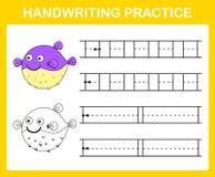 Handwriting practice sheet. Illustration vector royalty free illustration