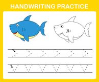 Handwriting practice sheet. Illustration vector stock illustration