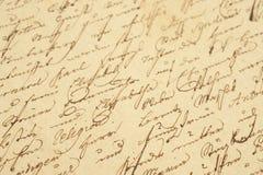 handwriting rocznik Zdjęcia Stock