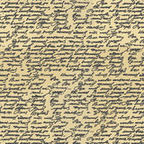 Handwriting seamless pattern. Old Abstract letter. Ancient writi Stock Images