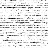 Handwriting. Seamless vector background. Royalty Free Stock Photography
