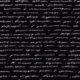 Handwriting. Seamless vector background. Royalty Free Stock Photos