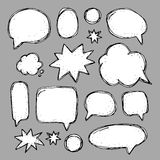 Handwriting set of speech bubbles Royalty Free Stock Photography