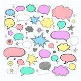 Handwriting  set of speech bubbles. Vector illustration Royalty Free Stock Photo