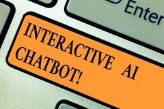 Handwriting tekst Interaktywny Ai Chatbot Pojęcia znaczenia program komputerowy który symuluje huanalysis rozmowę zdjęcia royalty free