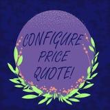 Handwriting tekst Konfiguruje ceny wycenę Pojęcia znaczenia oprogramowanie używa firmami dla kosztować towarowego Pustego koloru  royalty ilustracja