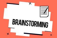 Handwriting tekst pisze Brainstorming Pojęcia znaczenia chwyt grupowa dyskusja produkować pomysł drużyny pracy spotkania ilustracji