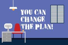 Handwriting tekst pisze Ciebie Może Zmieniać plan Pojęcia znaczenie Robi zmianom w twój planach osiągać cele Pracować ilustracja wektor