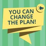 Handwriting tekst pisze Ciebie Może Zmieniać plan Pojęcia znaczenie Robi zmianom w twój planach osiągać cele Składających ilustracji