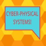 Handwriting tekst pisze Cyber Fizycznych systemach Pojęcia znaczenia mechanizm kontrolujący computerbased algorytmami Pustymi ilustracja wektor