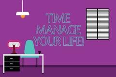 Handwriting tekst pisze czasie Kieruje Twój życie Pojęcie znaczy Dobry planować dla codziennych lub pracy aktywność Work Space ilustracja wektor