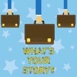 Handwriting tekst pisze Jaki S Twój Storyquestion Pojęcia znaczenie Łączy Komunikuje łączliwość związek ilustracja wektor
